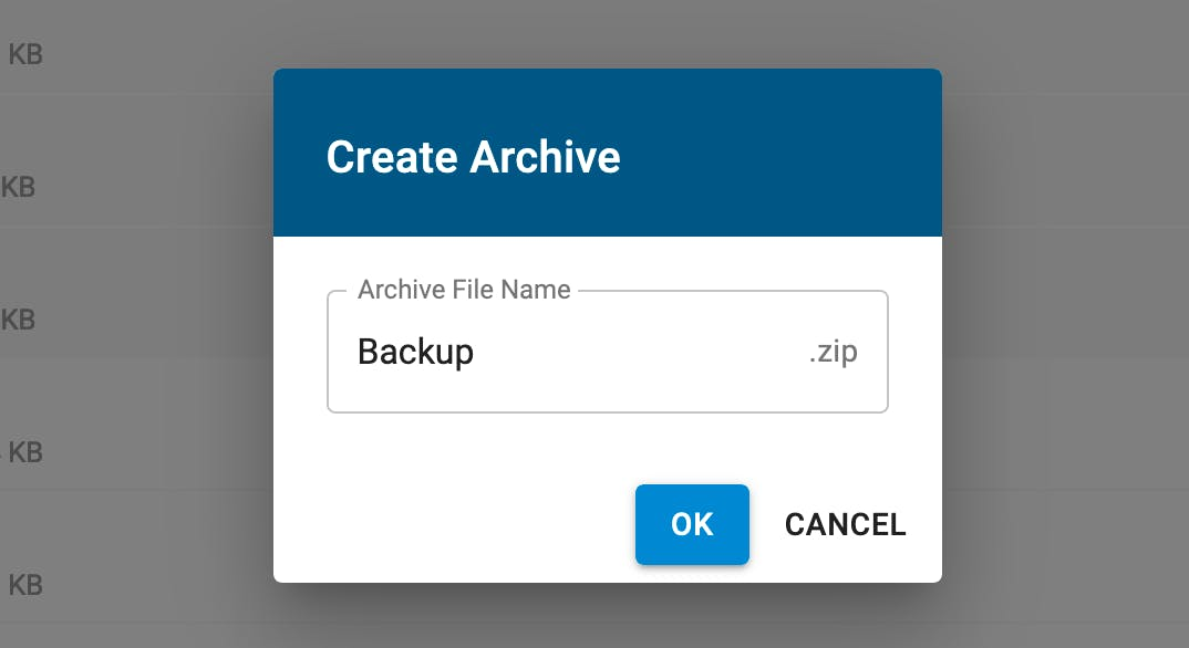 Create archive.