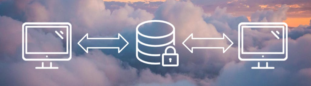 Cloud SFTP SaaS file transfer happening between computers and server.