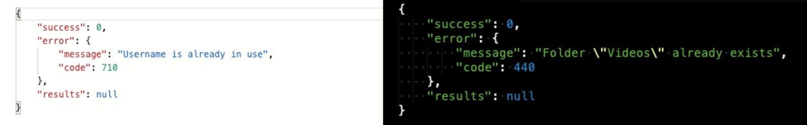 Sample of better error messages.