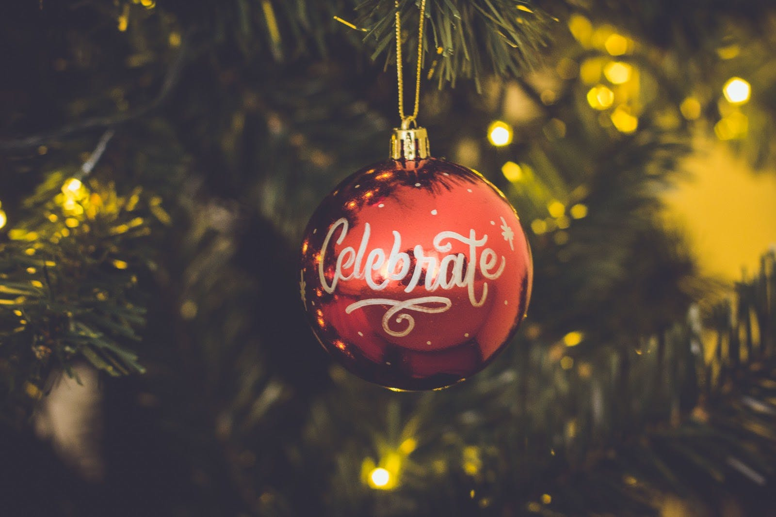 Celebrate holiday ornament.