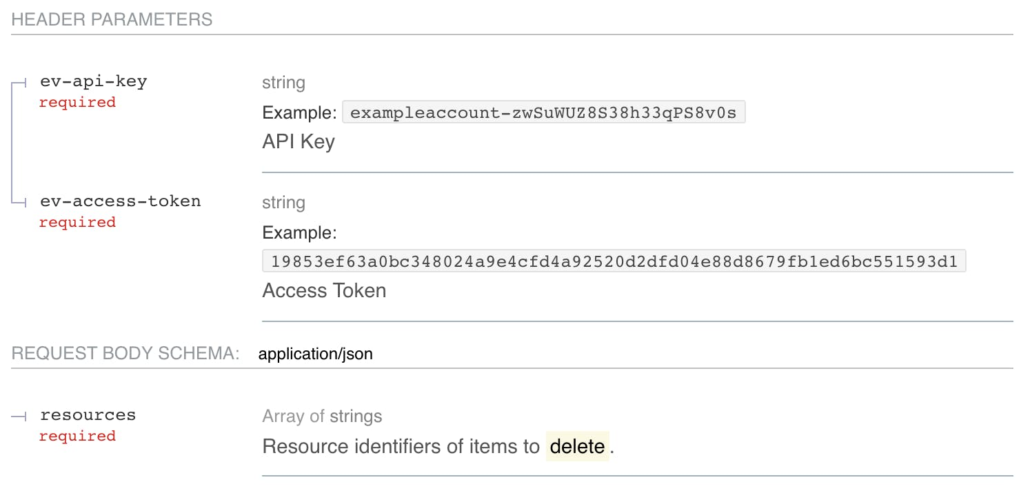 Code to have the API review existing files and delete.