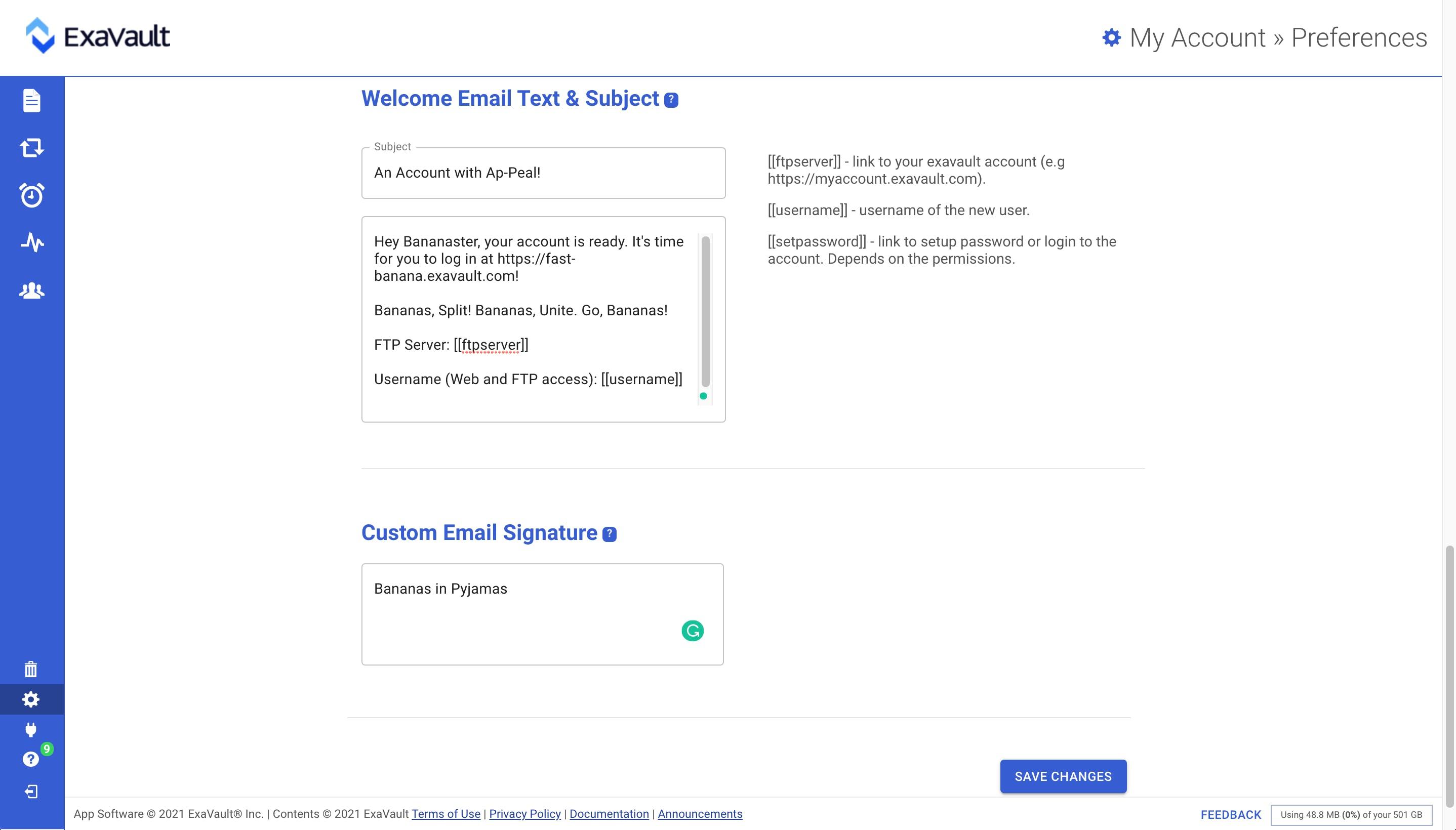 Customizing Emails.