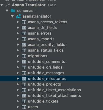 Asana translator schemas.
