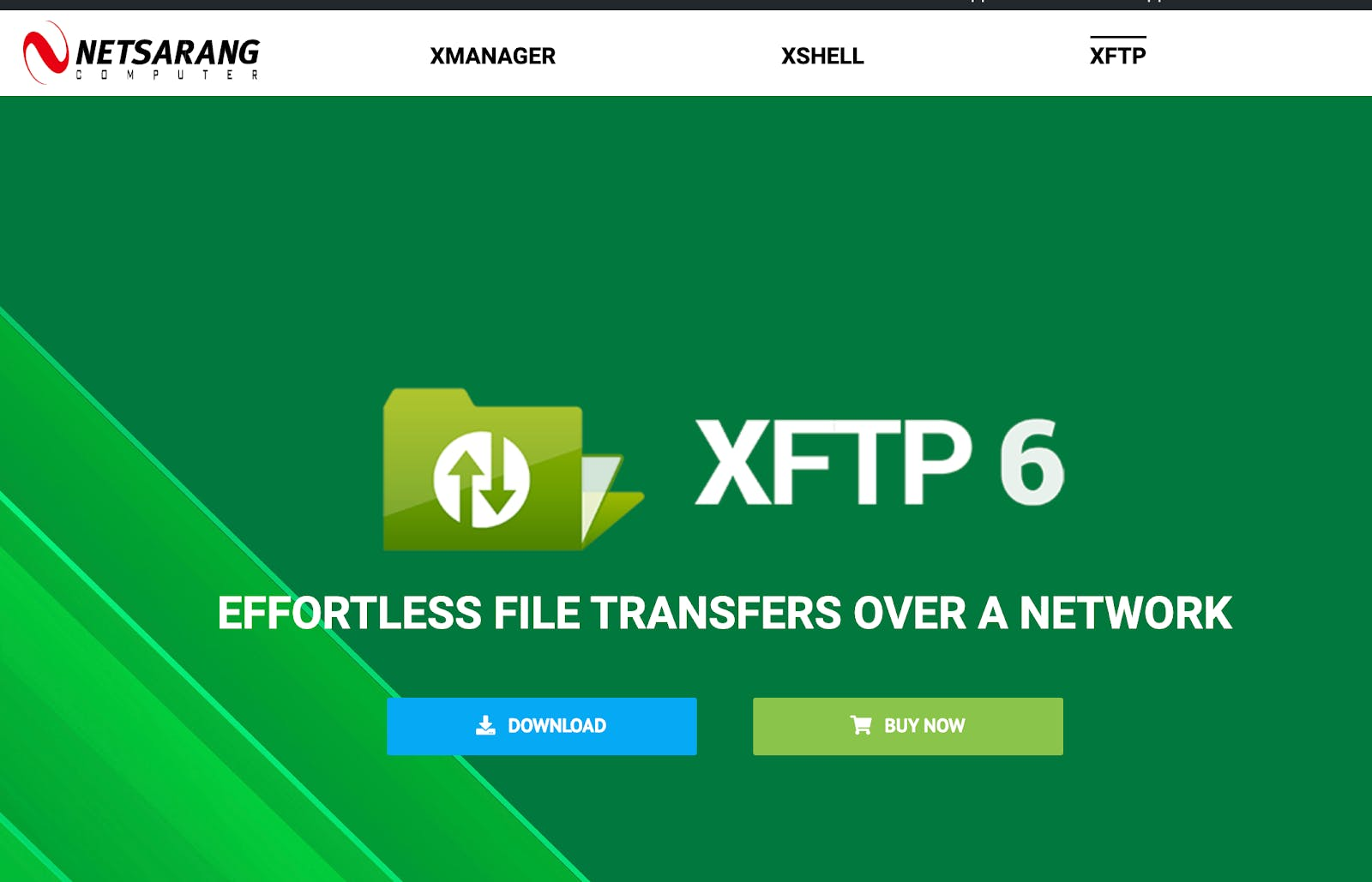 Netsarang XFTP 6 client download page.