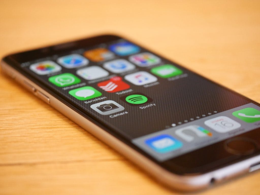 Smartphone with apps for file sharing and more.