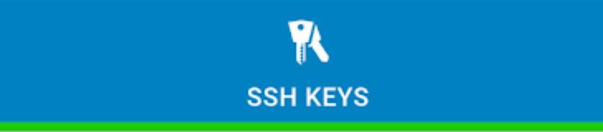 SSH keys banner with blue background.