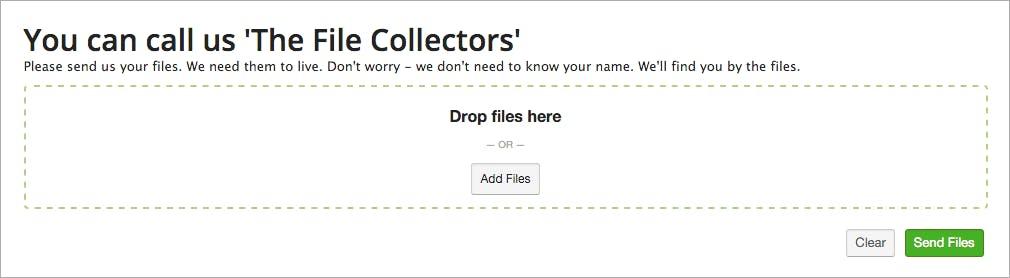 Uploader widget for receive folders.
