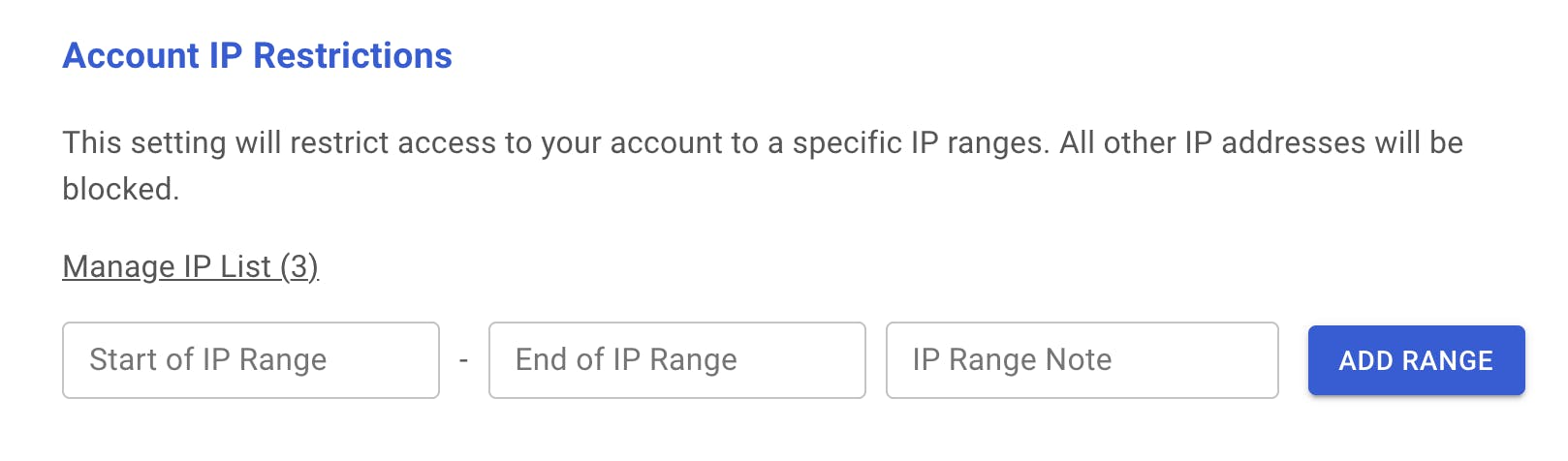 Account IP restrictions.