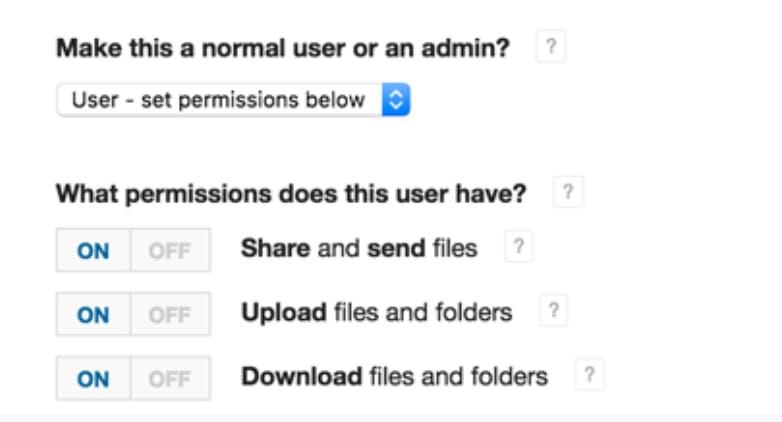 Adjust user permissions for secure file transfer.
