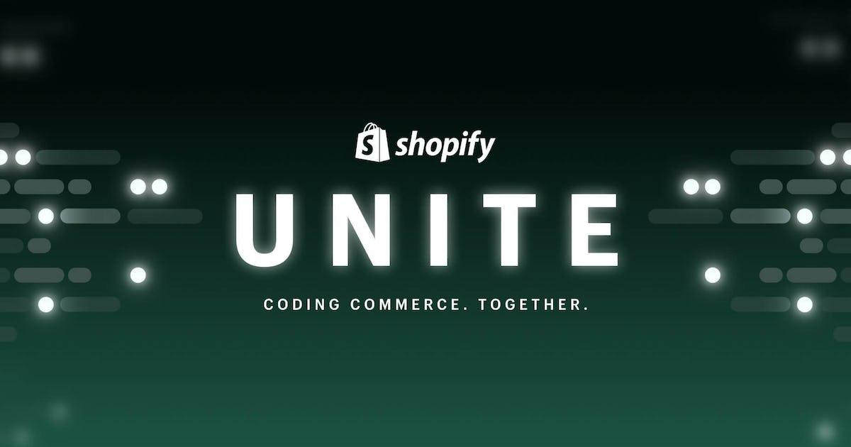 Unite 2021 event van Shopify
