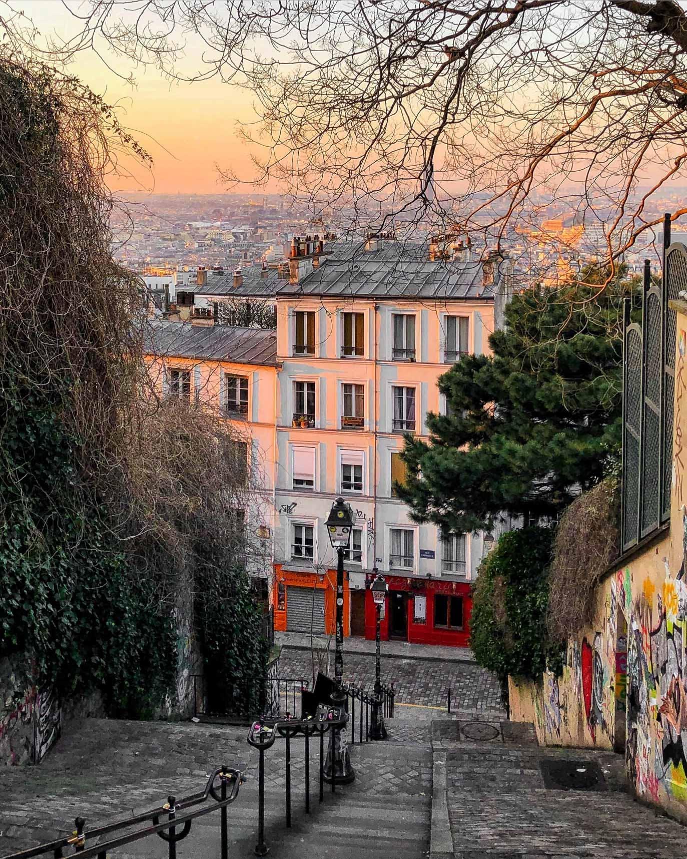 Rue du Calvaire Steps & Chez Marie on Rue Gabrielle