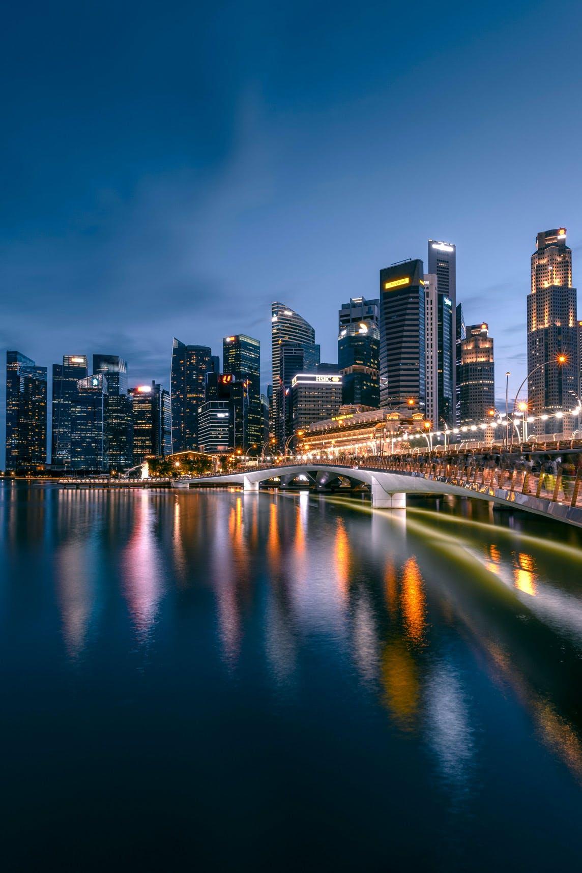 Jubilee Bridge & Singapore Skyline