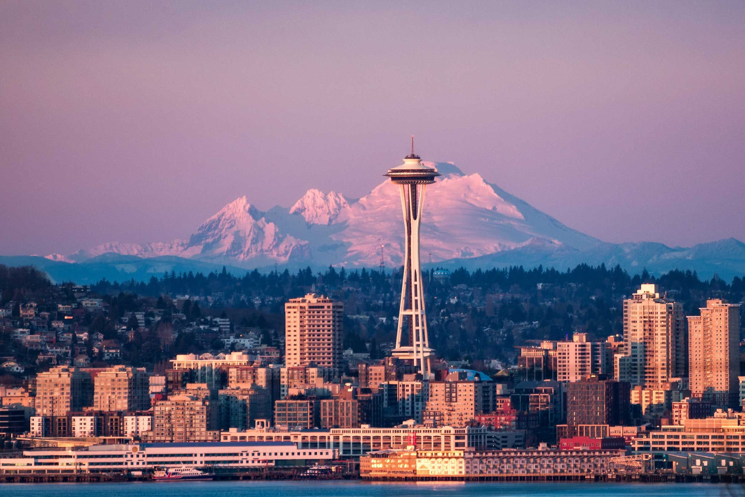 Providence Mount St Vincent view of Space Needle & Mount Baker