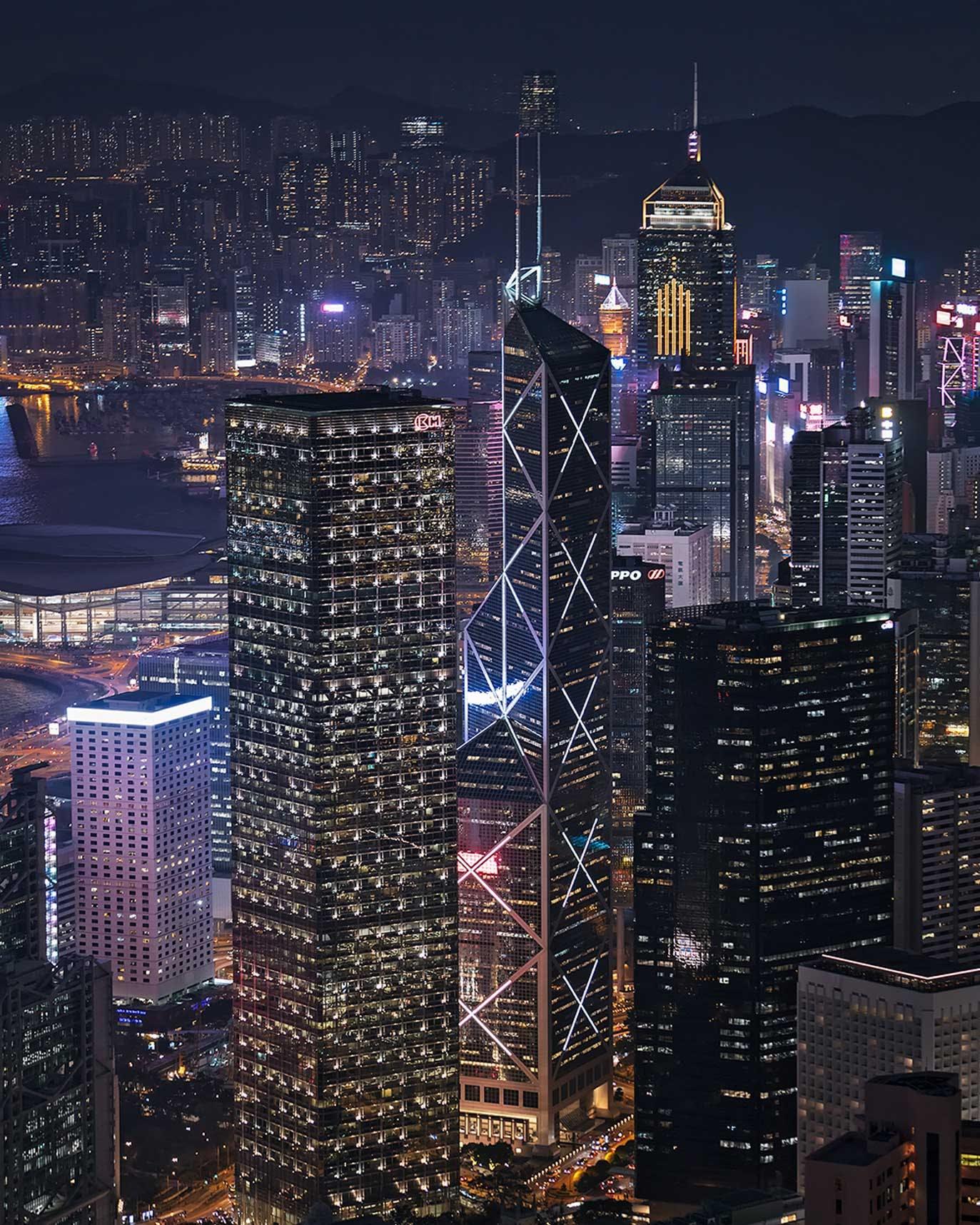 Lugard Road view of Cheung Kong Centre & Bank of China Tower