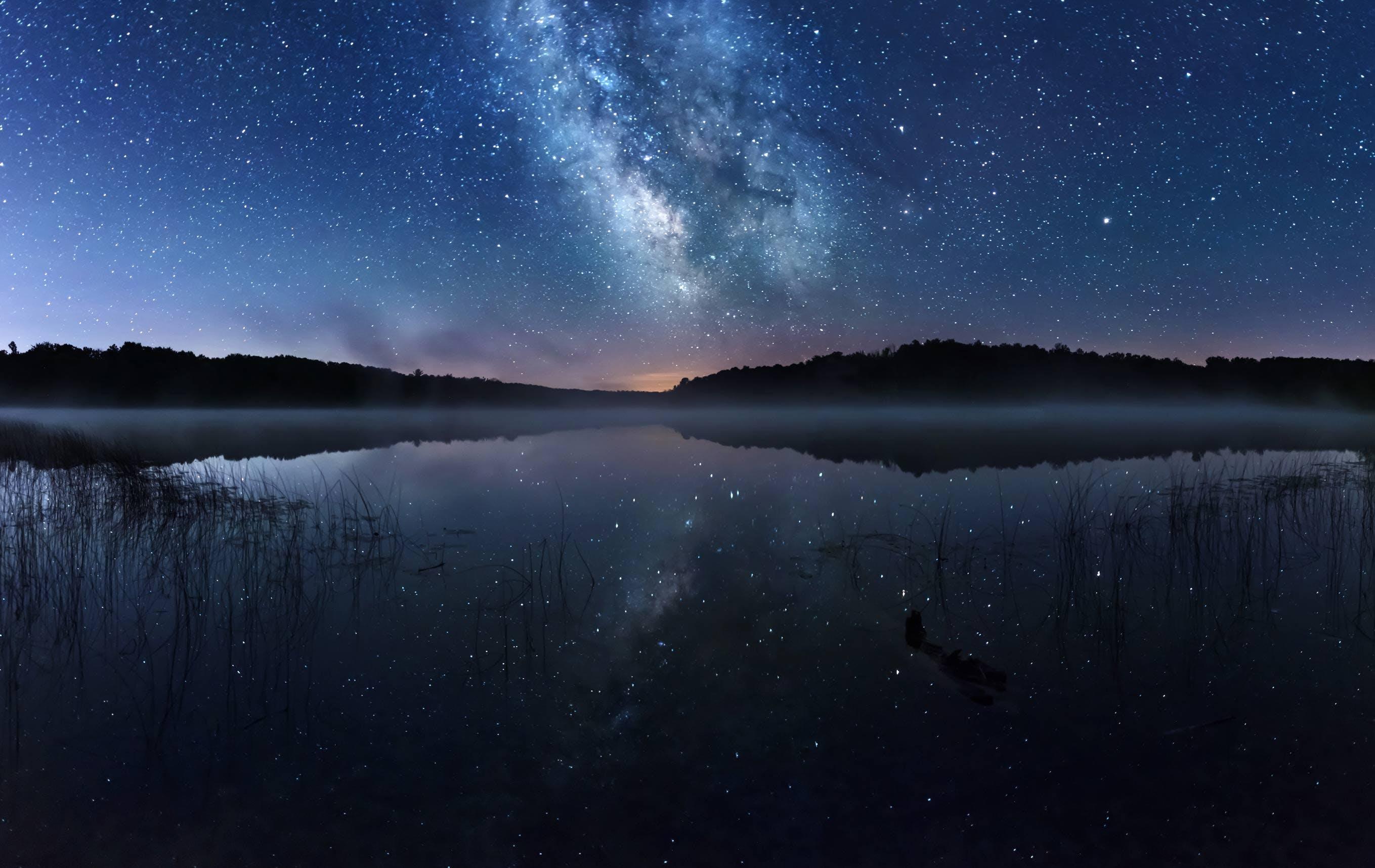Cedar Lake Dock view of Milky Way