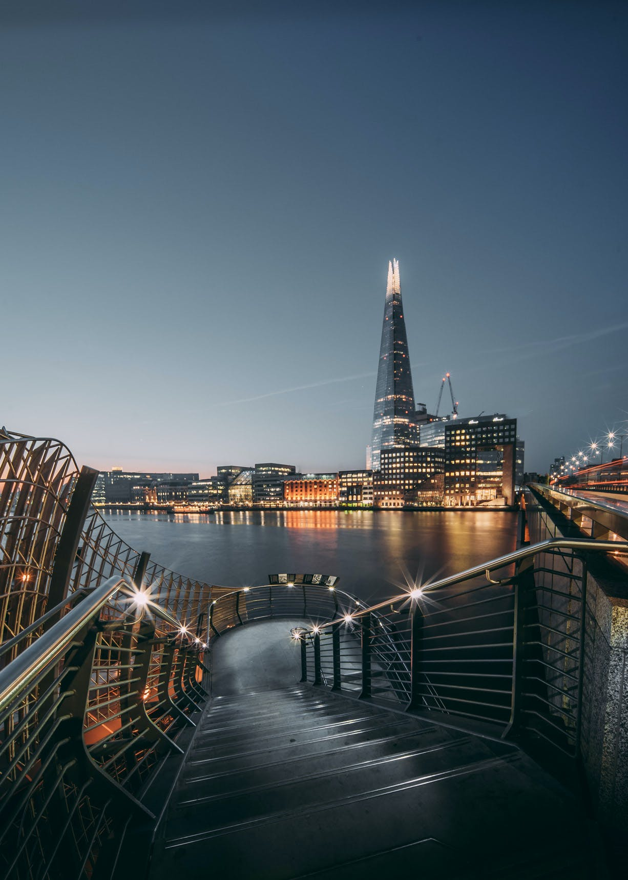 London Bridge Stairs view of River Thames & The Shard