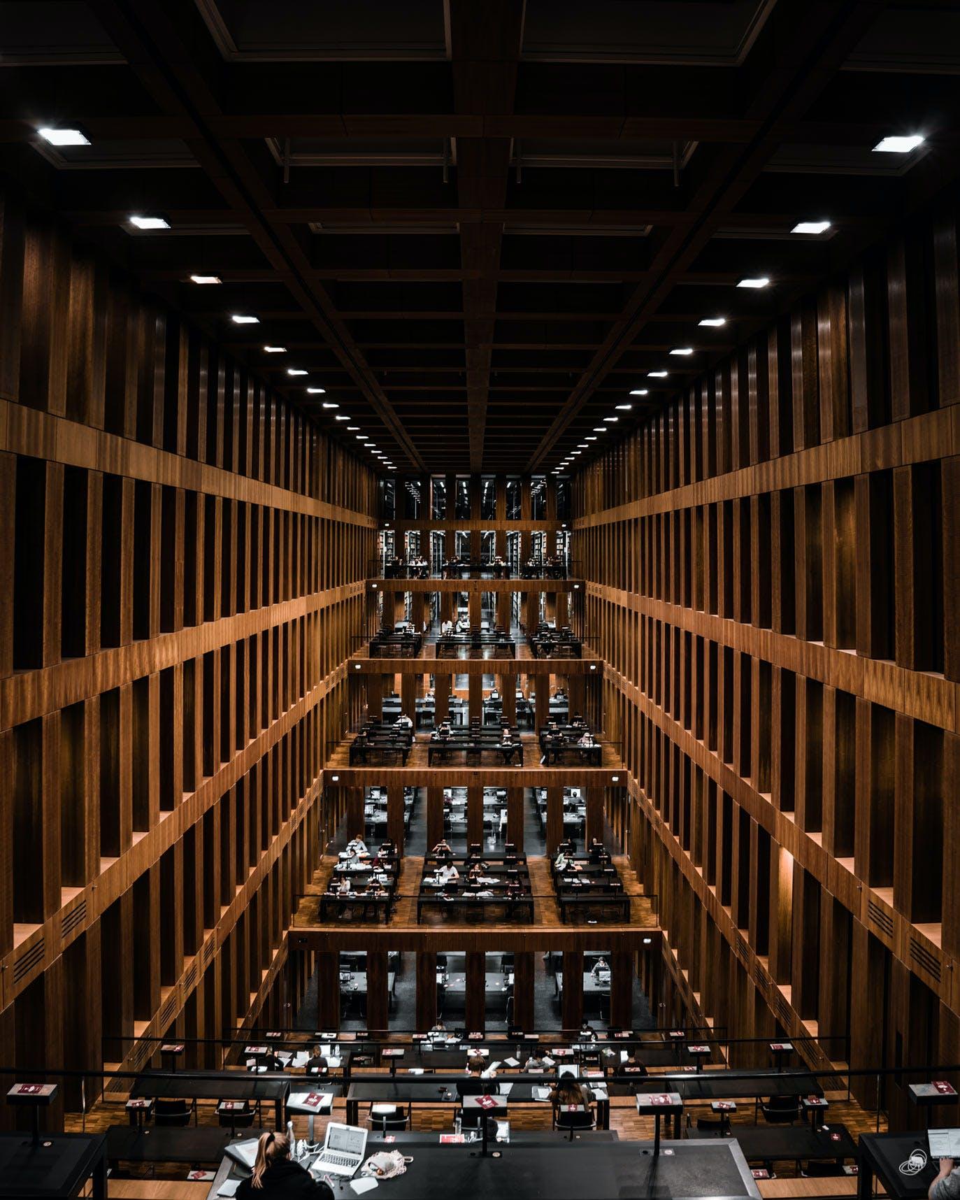Study Space at Jacob-und-Wilhelm-Grimm Zentrum University Library