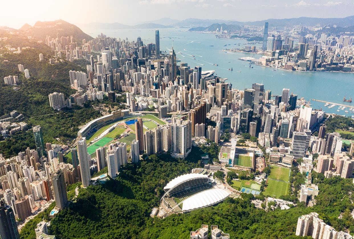 Hong Kong Island & Victoria Harbour from Jardine's Lookout