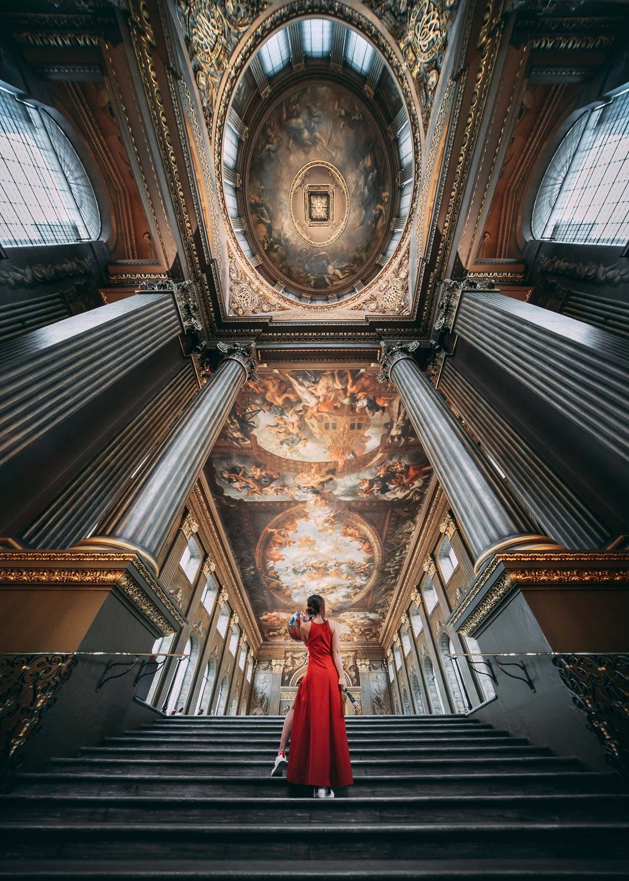 Painted Hall Staircase in the Old Royal Naval College
