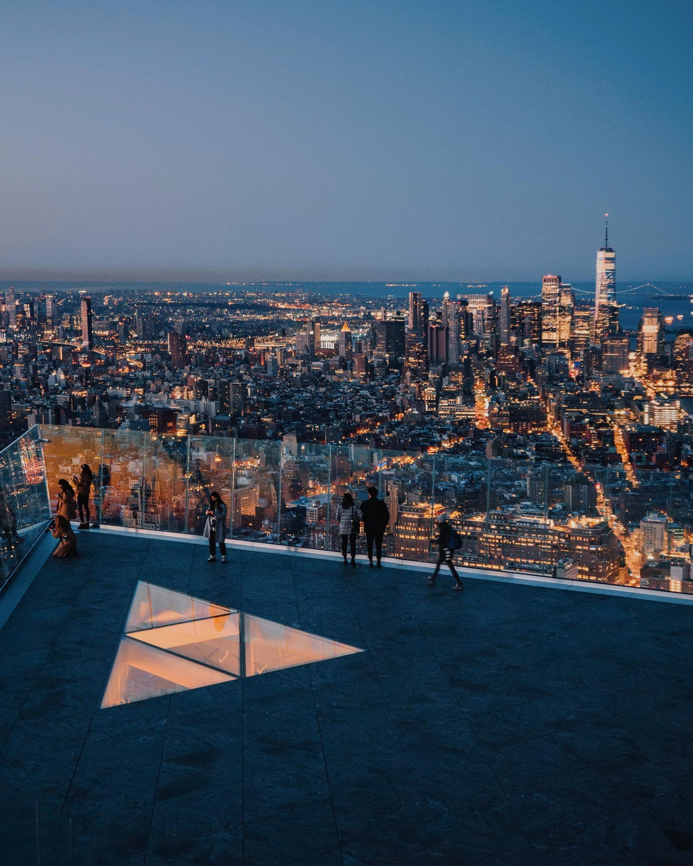 The Edge view of Manhattan Skyline