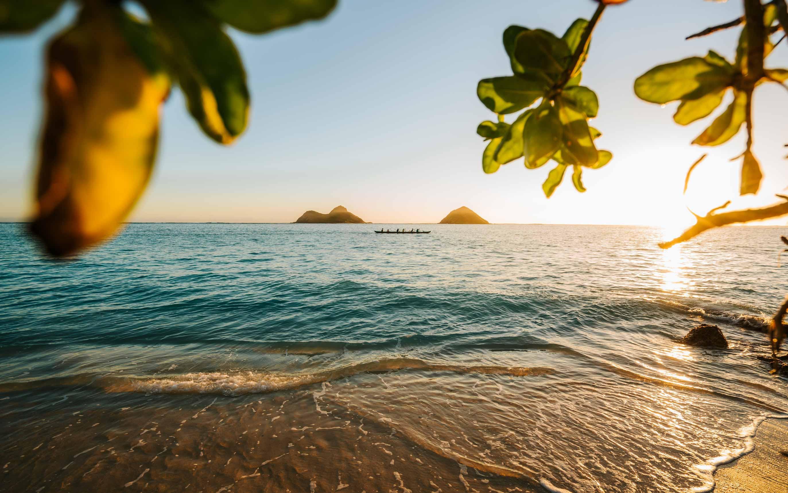 """Ocean Access 10"" at Lanikai Beach view of the Ocean, Moku Nui & Moku Iki"