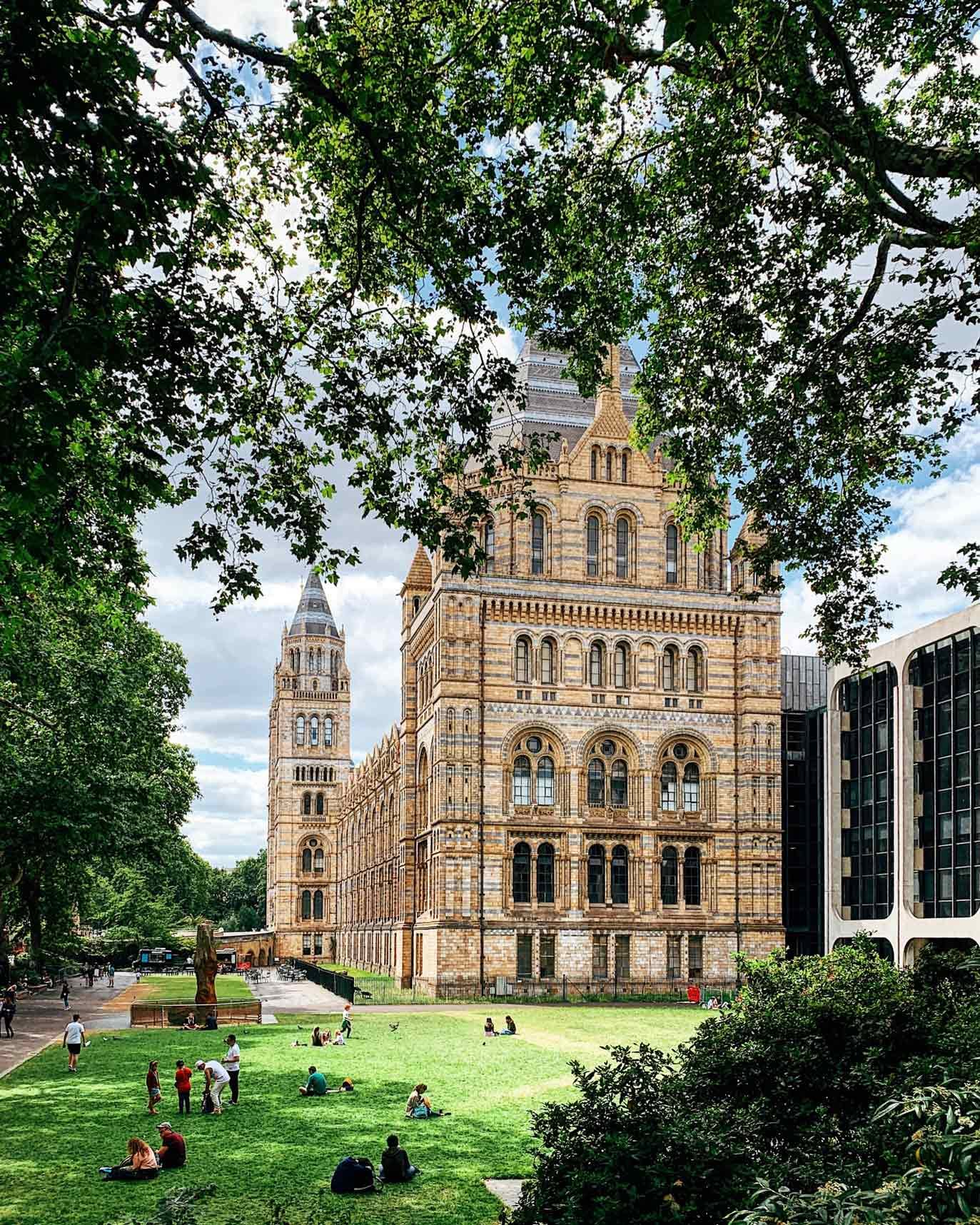 East Lawn view of Natural History Museum
