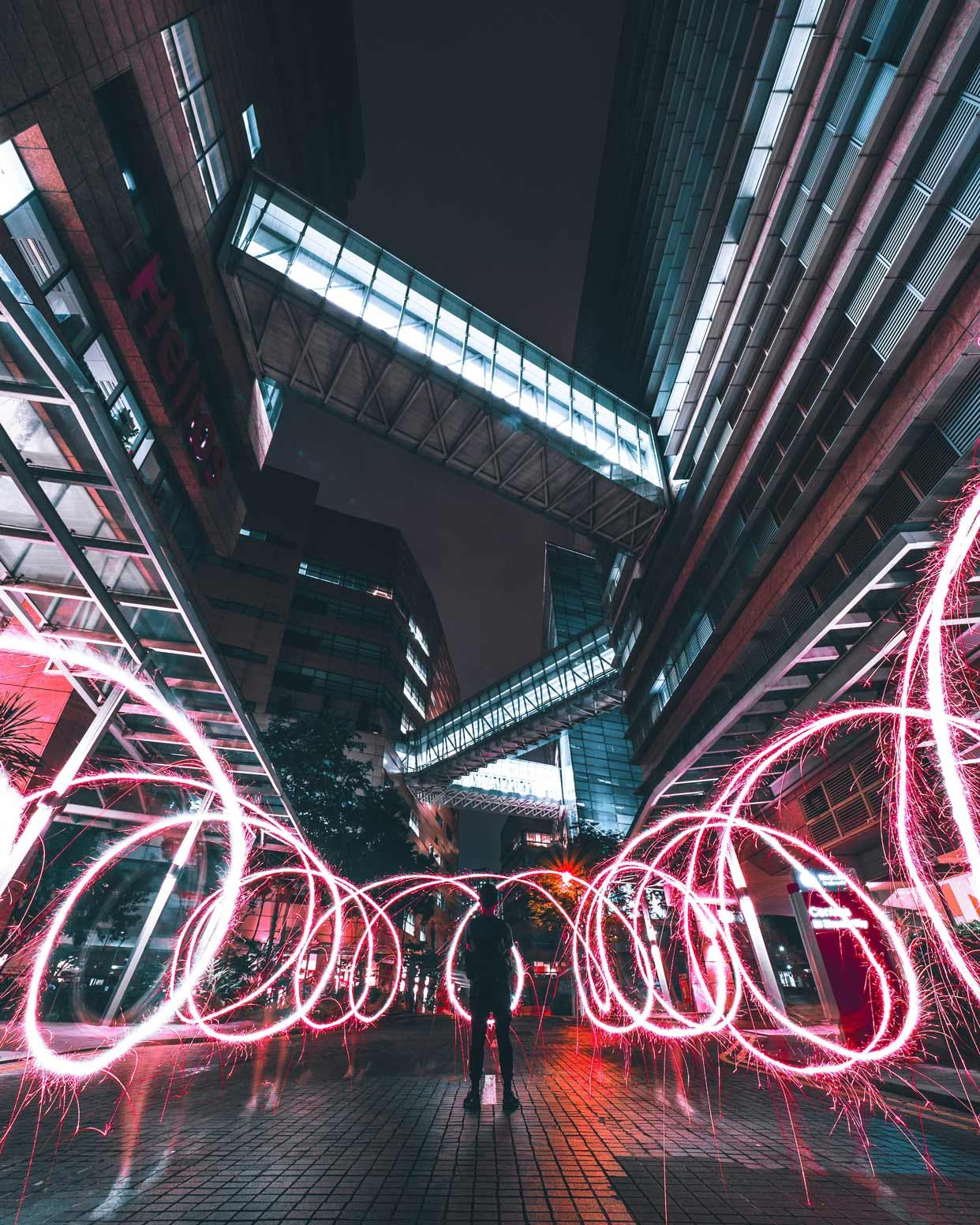Light Trail Painting at Helios on Biopolis