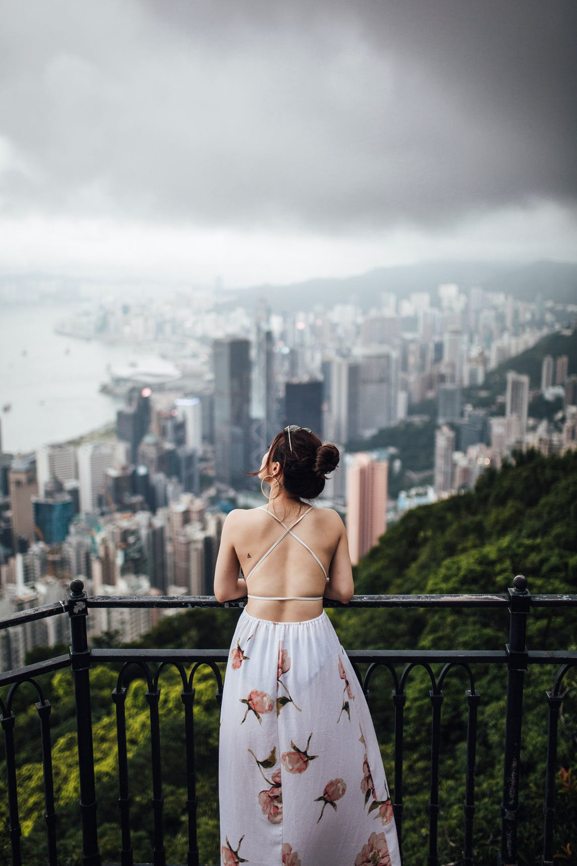 Lugard Road Lookout view of Central Skyline & Victoria Harbour