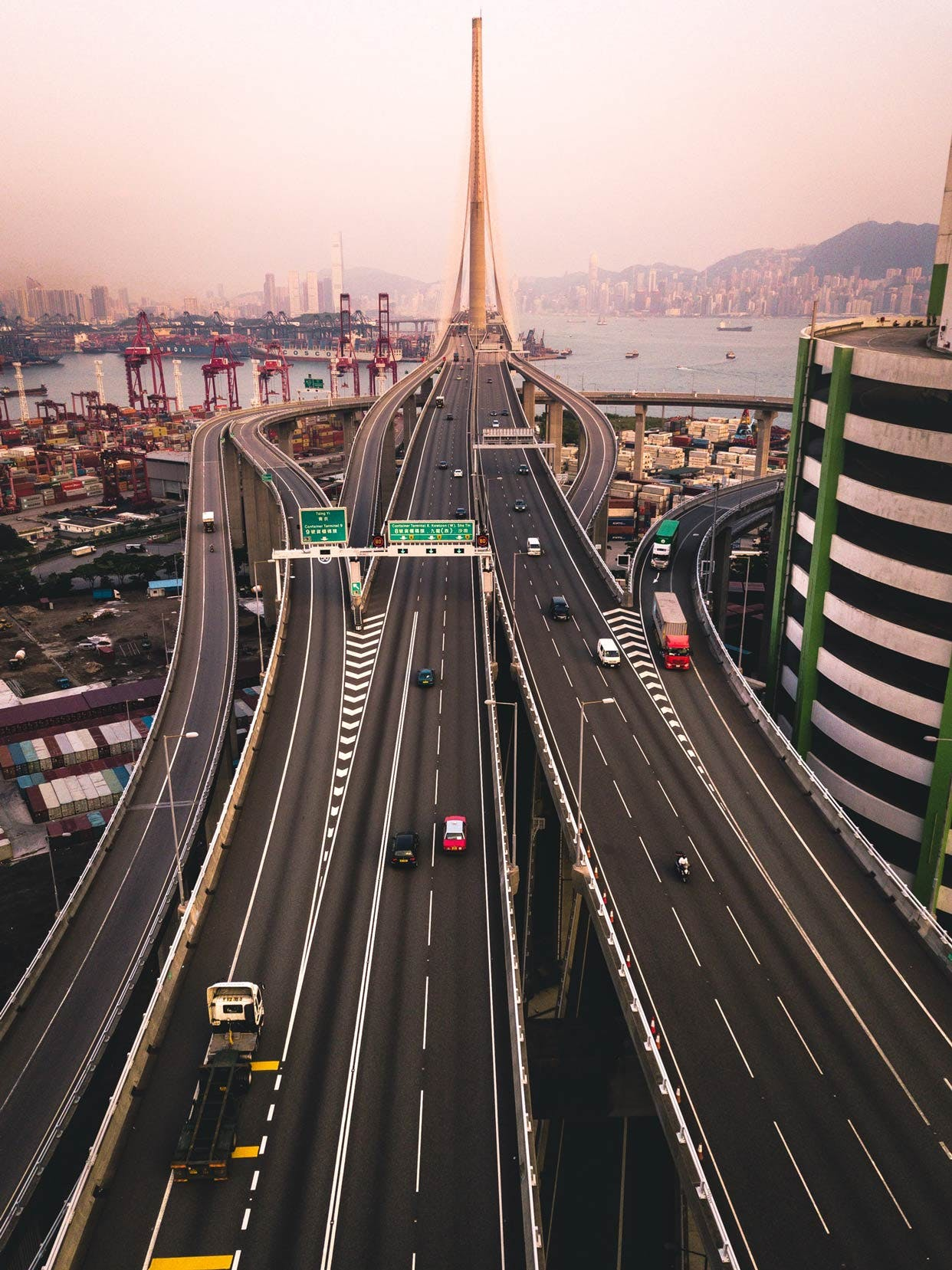Tsing Sha Highway & Stonecutters Bridge