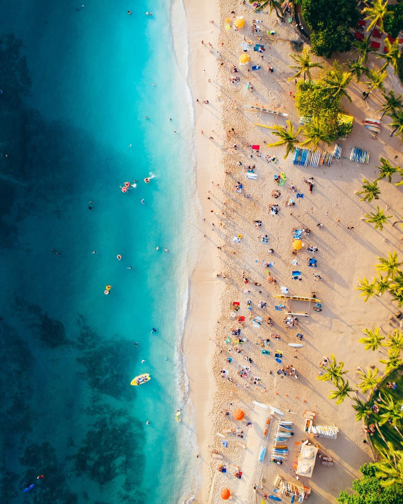 Waikiki Beach Look Down