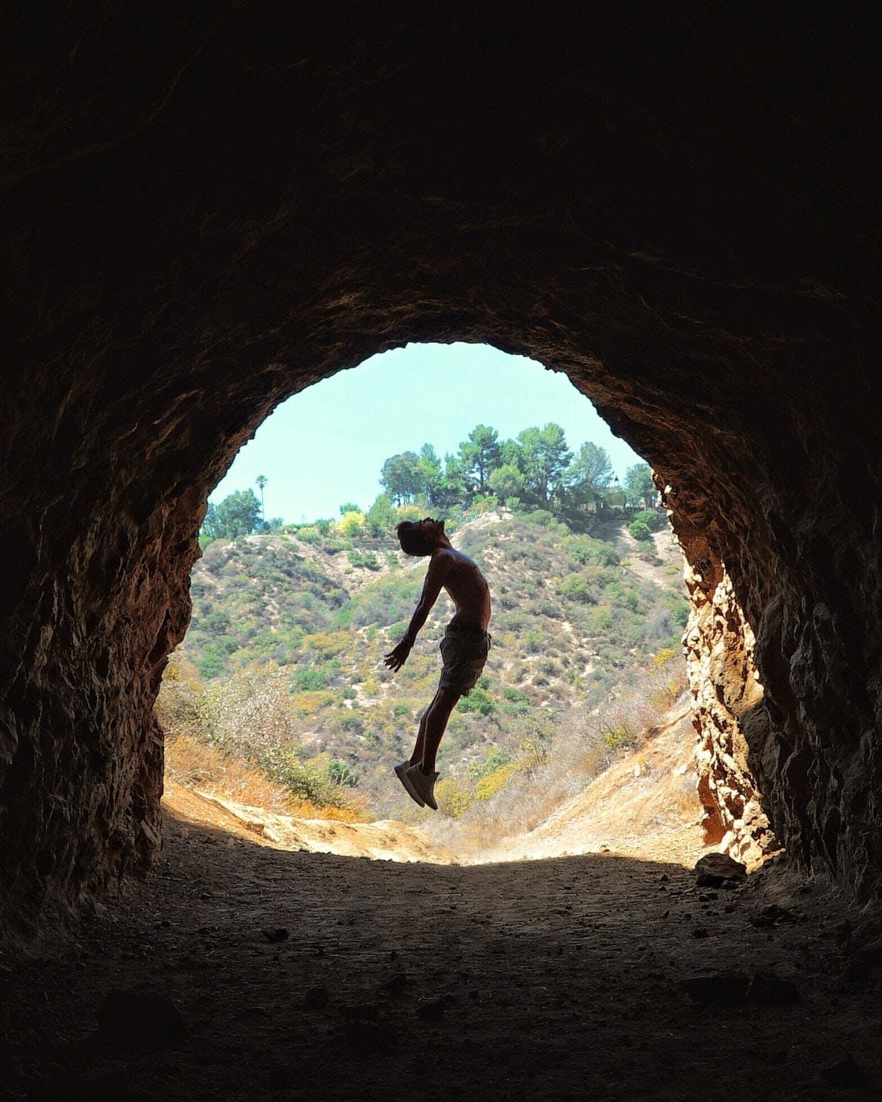 Inside Bronson Cave