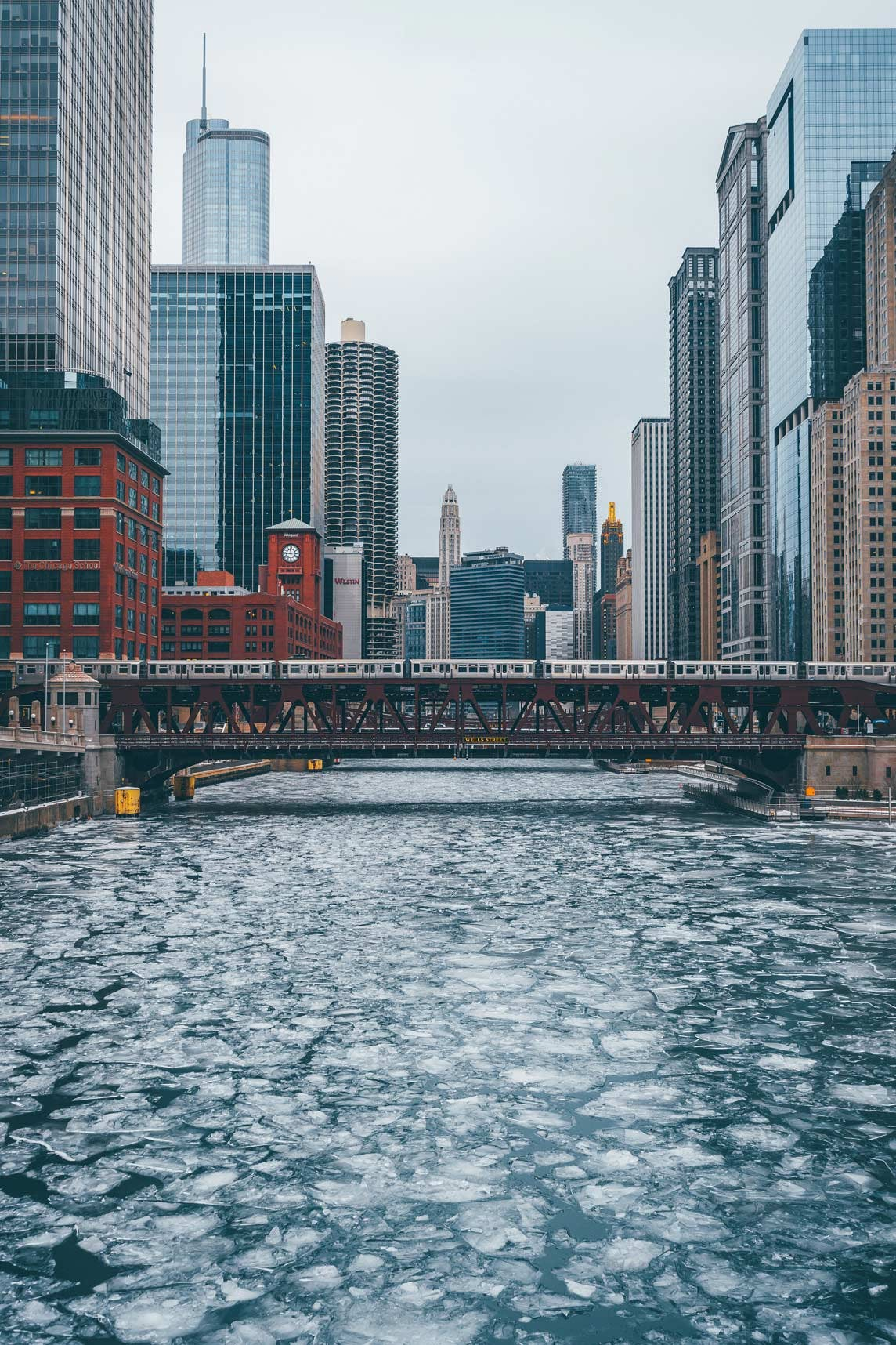 Wells Street Bridge & Chicago River