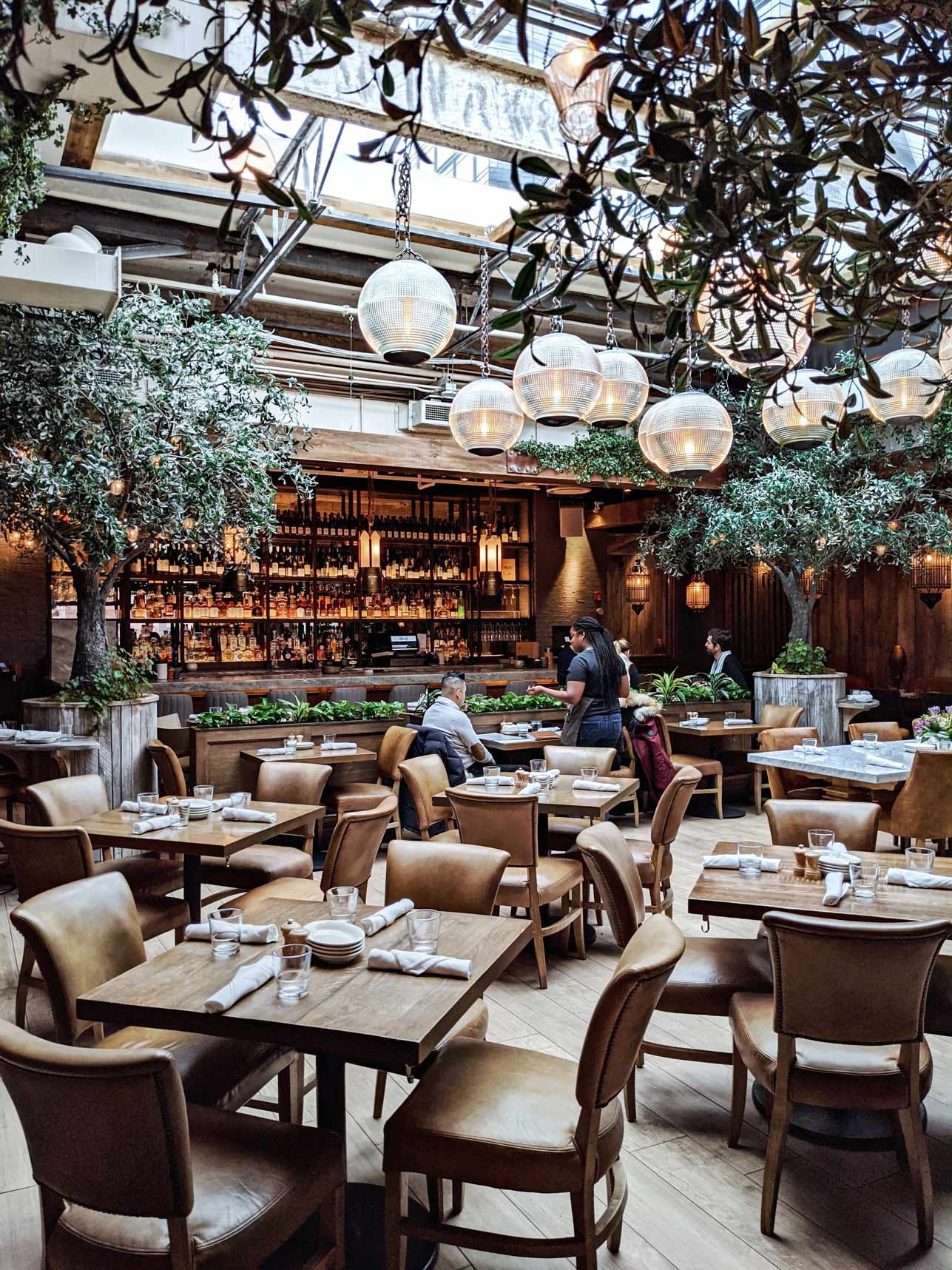 Aba Restaurant Indoor Dining Space