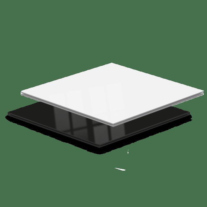 Witte hoogglans beursvloer vloerpanelen van Exposupply