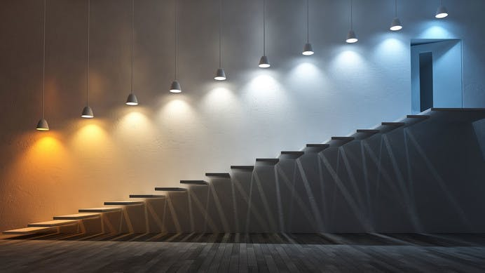 Led lighting with various colour temperatures