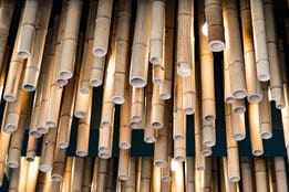 Bambusdecke
