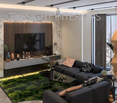 TV Unit design by Eyesight Interiors