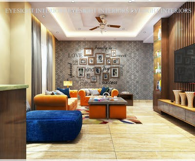 Modern Living Area Designing