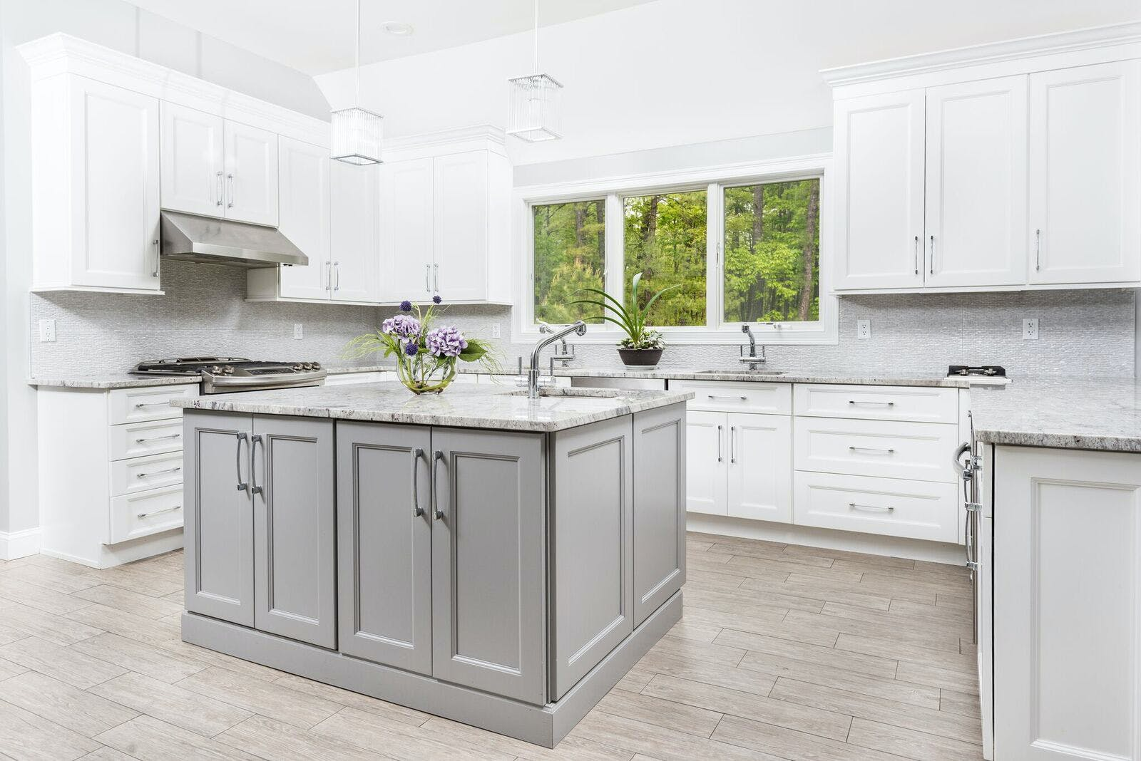 grey kitchens cabinets, white and grey kitchen