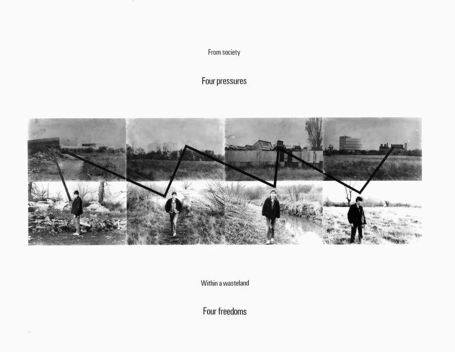 Stephan Willats, Four Pressures - Four Freedoms, 1979