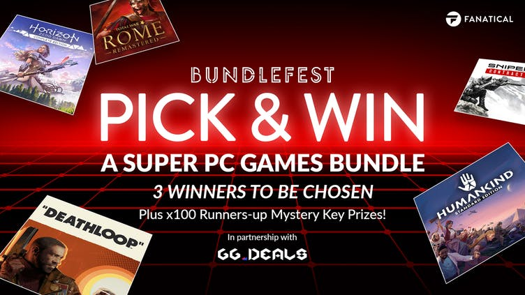 Chance to Pick & Win super games bundle during BundleFest