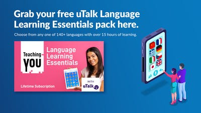Claim your free uTalk Language Learning Essentials to celebrate our 25th Anniversary