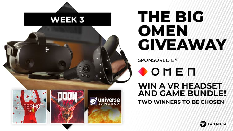 The Big OMEN Giveaway Week Three - Win HP Reverb G2 VR headset and games bundle