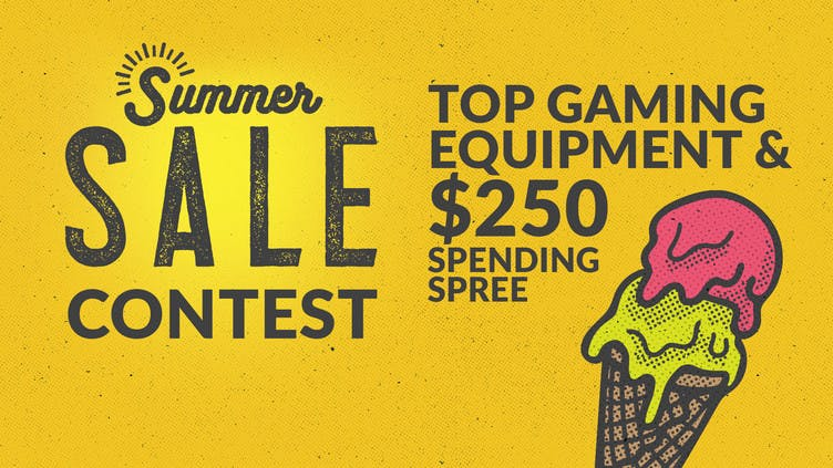 Chance to win top gaming equipment and spending spree worth over $2,100