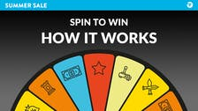 Summer Sale Spin to Win - How it works and what can you win