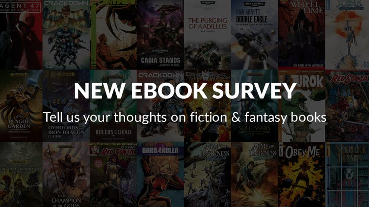 What fiction and fantasy books do you want on the Fanatical Store - Take our survey