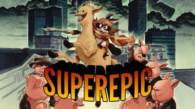 You can ride a llama and defeat evil microtransactions in SuperEpic