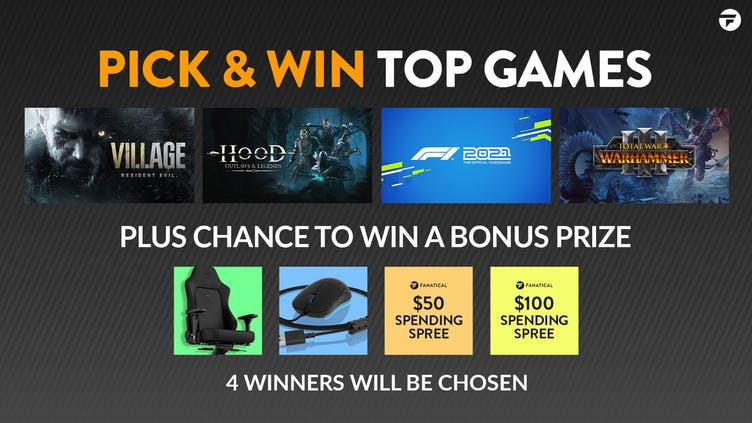 Chance to Pick & Win top PC games and mad bonus prizes