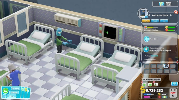 The Illnesses in Two Point Hospital Close Encounters