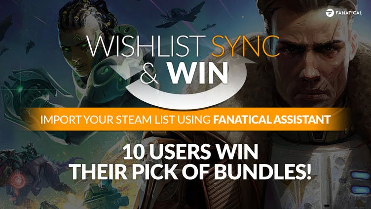 Sync your Wishlist and win a game bundle of your choice
